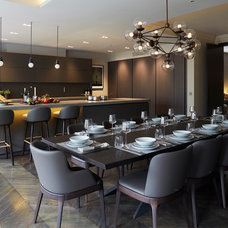 Contemporary Dining Room by Staffan Tollgard Design Group