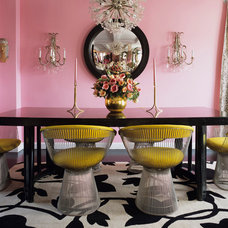 Eclectic Dining Room by Knoll