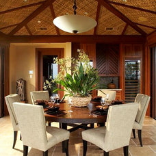 Tropical Dining Room by Knudson Interiors
