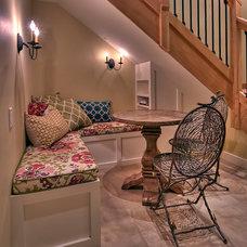 Transitional Dining Room by Tamara Rosenbloom Design LLC