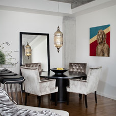 Contemporary Dining Room by Kristina Wolf Design
