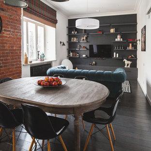 На фото: с высоким бюджетом столовые в стиле фьюжн