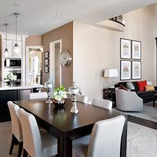 Transitional Dining Room by Jane Lockhart Interior Design