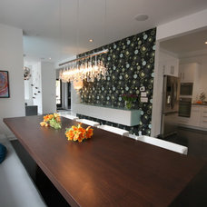 Modern Dining Room by catlin stothers design