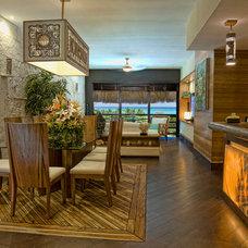 Tropical Dining Room by Pedro Ojeda, Arquitecto