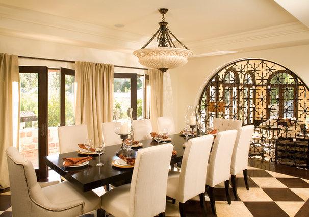 Mediterranean Dining Room by Urban Colony