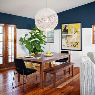 Inspiration For A Mid Sized Beach Style Medium Tone Wood Floor Great Room Remodel In