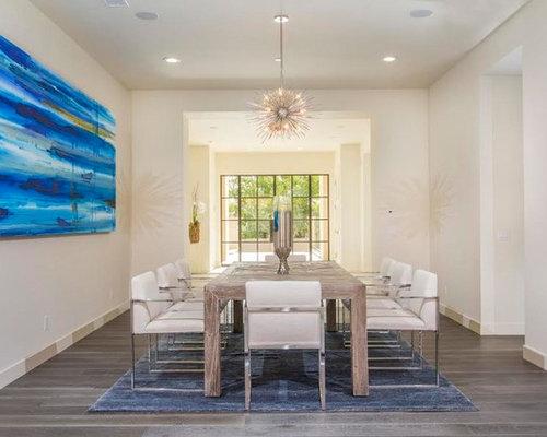 Contemporary medium tone wood floor and gray floor dining room idea in San  Diego with gray. 70  Best Contemporary Dining Room Ideas   Houzz