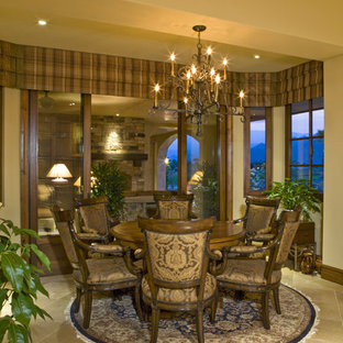 Photo of a mediterranean dining room in San Diego.