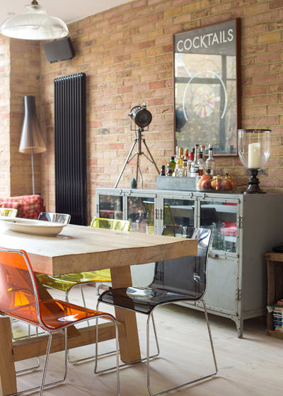 Eclectic Dining Room by Martins Camisuli Architects