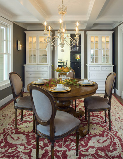 Traditional Dining Room by Amoroso Design