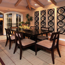 Tropical Dining Room by International Custom Designs