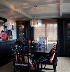 eclectic dining room by Darci Goodman Design