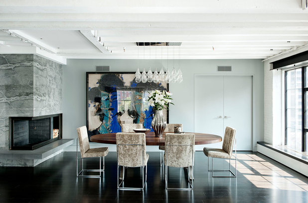 Industrial Dining Room by DHD Architecture and Interior Design