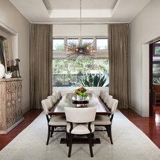 Transitional Dining Room by GREER Interior Design