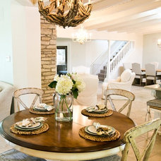 Beach Style Dining Room by Robin Gonzales Interiors