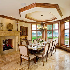 mediterranean dining room by Barenz Builders