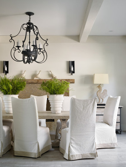 Transitional Dining Room by Beth Webb Interiors