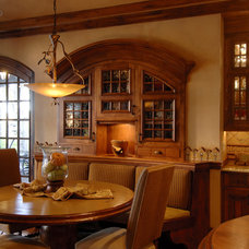 Traditional Dining Room by Lake Country Builders