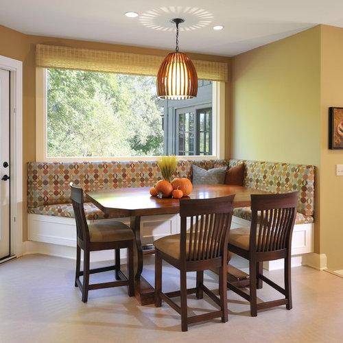 Inspiration For A Contemporary Dining Room Remodel In Minneapolis With  Yellow Walls