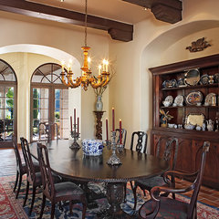 mediterranean dining room by Cornerstone Architects