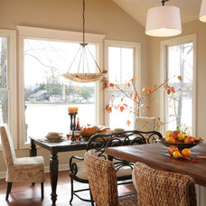 Eclectic Dining Room by Gallery Interiors and Rockford Kitchen Design