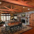 Family Ski Lodge Rustic Dining Room Denver By