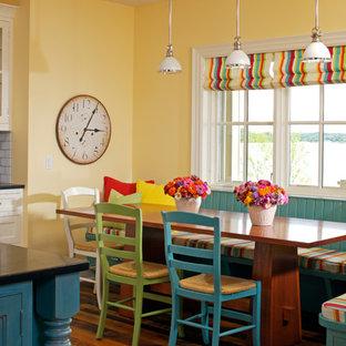 Выдающиеся фото от архитекторов и дизайнеров интерьера: кухня-столовая в классическом стиле