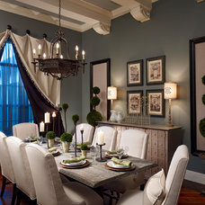 Traditional Dining Room by Roman Interior Design