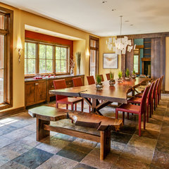 eclectic dining room by Deep River Partners