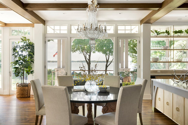 Farmhouse Dining Room by Kroiss Development, Inc.