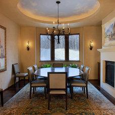 Mediterranean Dining Room by Aulik Design Build