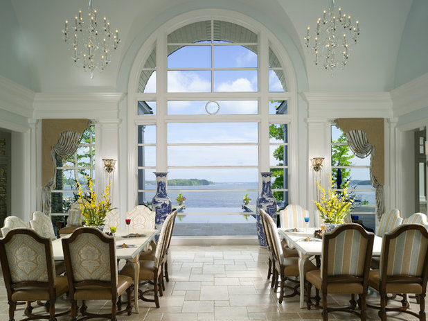Traditional Dining Room by Harrison Design