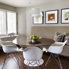 modern dining room by AMW Design Studio