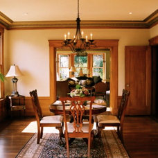 Traditional Dining Room by Hearth