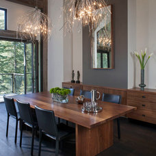 Rustic Dining Room by Chelsea Sachs Design