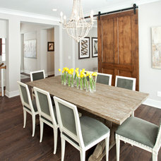 Transitional Dining Room by JALIN Design, LLC