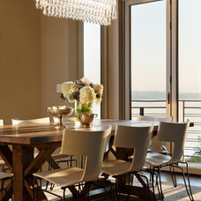 Eclectic Dining Room by NB Design Group, Inc