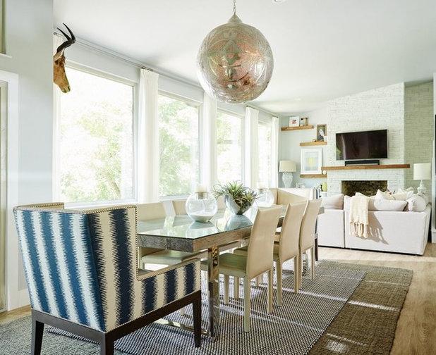 Transitional Dining Room by Beth Dotolo, ASID, RID, NCIDQ