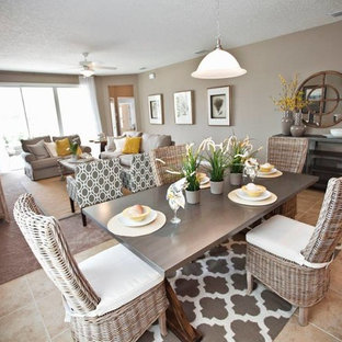 """""""lennar homes"""". Inspiration for a beach style dining room remodel in Jacksonville"""
