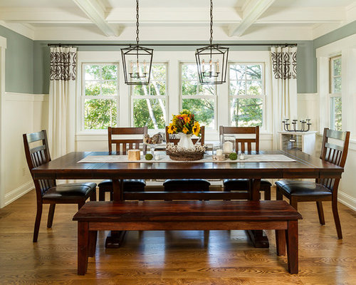 Mid-sized traditional medium tone wood floor dining room idea in Minneapolis with gray walls & Track Lighting Over Dining Room Table Ideas u0026 Photos | Houzz azcodes.com
