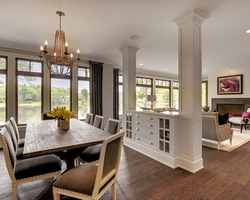Between Living And Dining Room Houzz