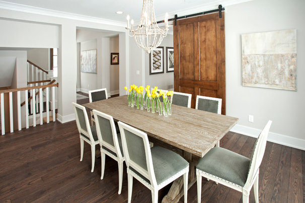 Transitional Dining Room by REFINED LLC