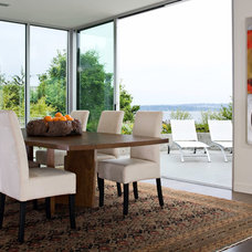 Modern Dining Room by Sam Van Fleet Photography