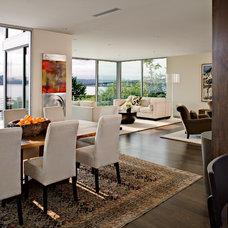 Modern Dining Room by Sam Van Fleet Photography