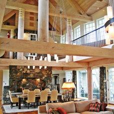 Rustic Dining Room by Pagliaro Bartels Sajda Architects, LLC