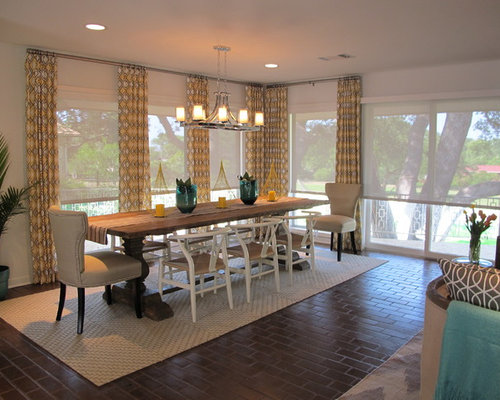Elegant Dining Room Photo In Portland With White Walls