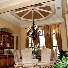Mediterranean Dining Room by Speir Faux Finishes, Inc.