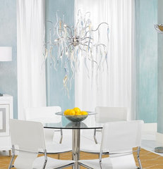 modern dining room by Lamps Plus