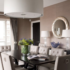 Transitional Dining Room by Taylor Howes Designs